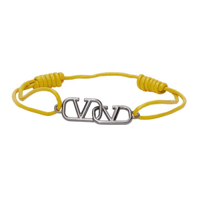 Photo: Valentino Yellow Valentino Garavani VLogo Bracelet