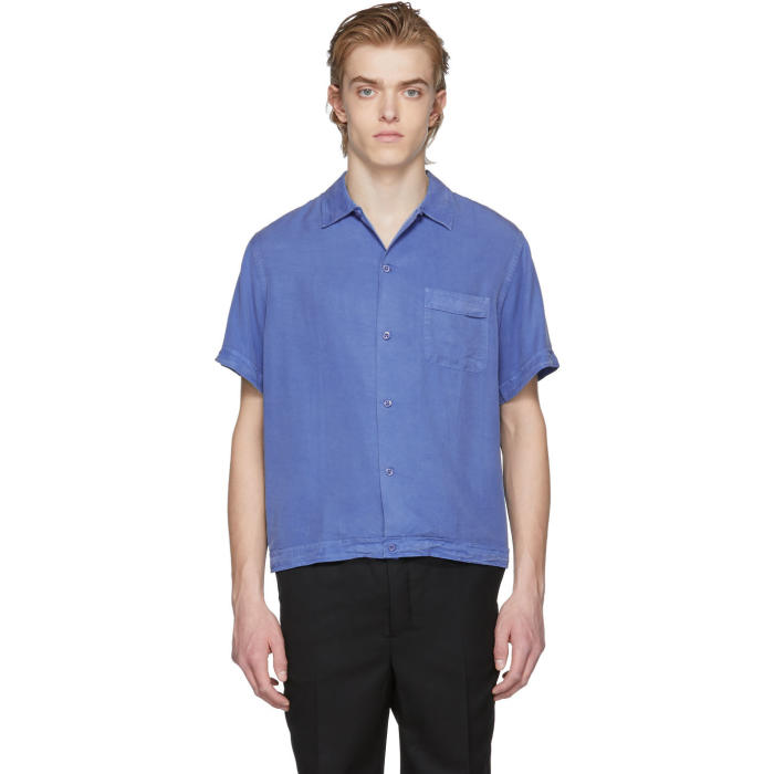 Photo: Éditions M.R  Blue Short Sleeve Shirt