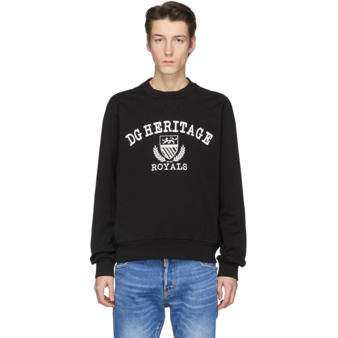 Photo: Dolce and Gabbana Black Heritage Sweatshirt