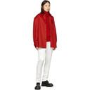 Raf Simons Red Denim Slim Fit Shirt