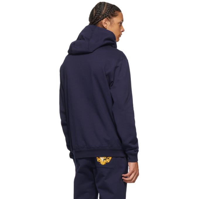 Versace Blue Medusa Zip-Up Hoodie