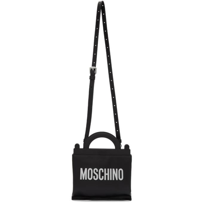 Photo: Moschino Black Logo Messenger Bag