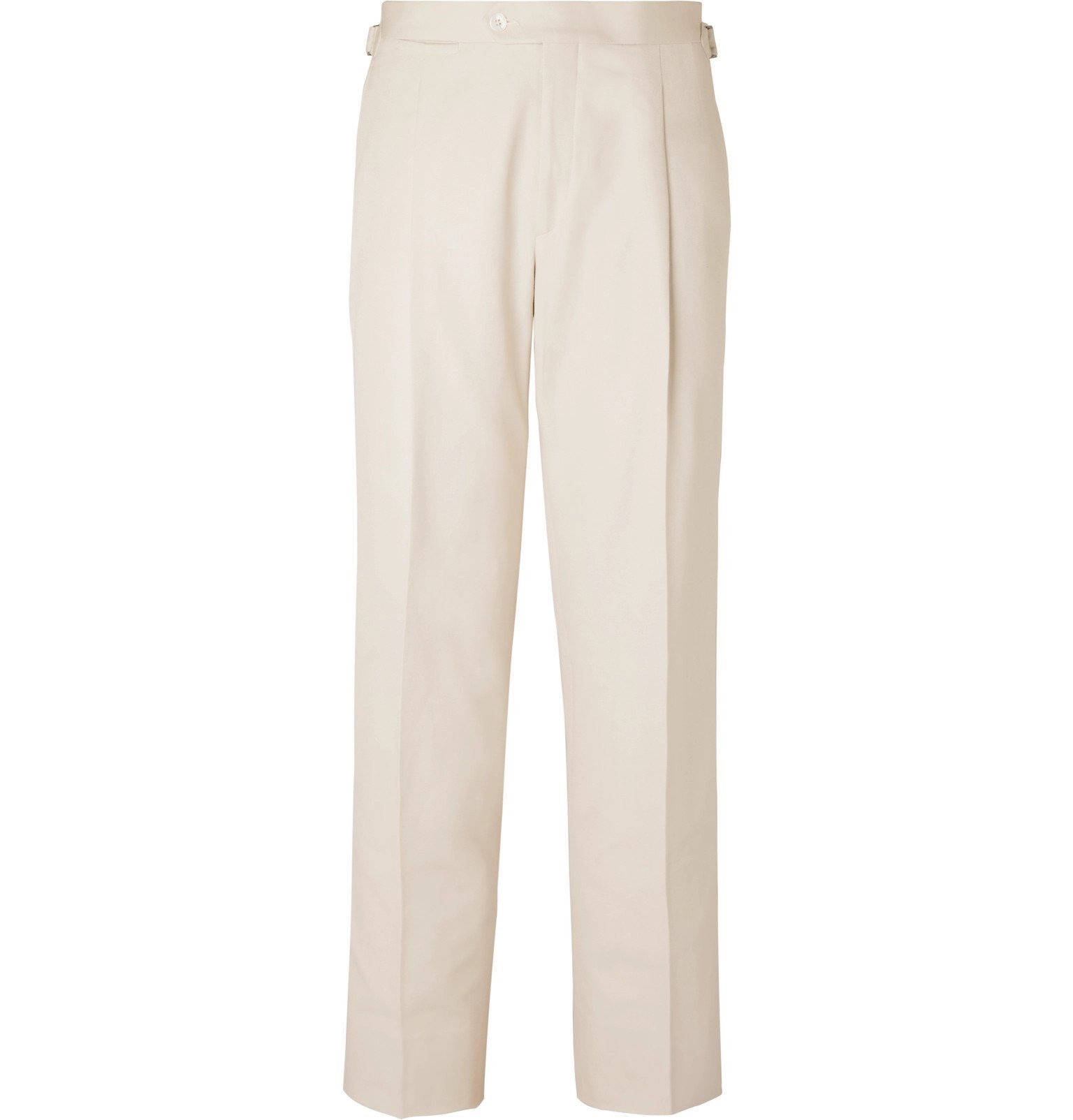 Saman Amel - Pleated Cotton Trousers - Neutrals