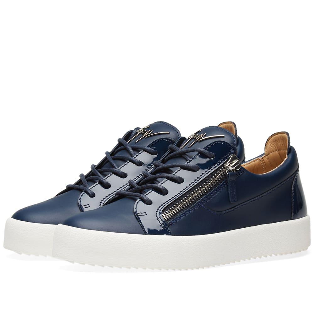 Photo: Giuseppe Zanotti Double Zip Low Sneaker Blue