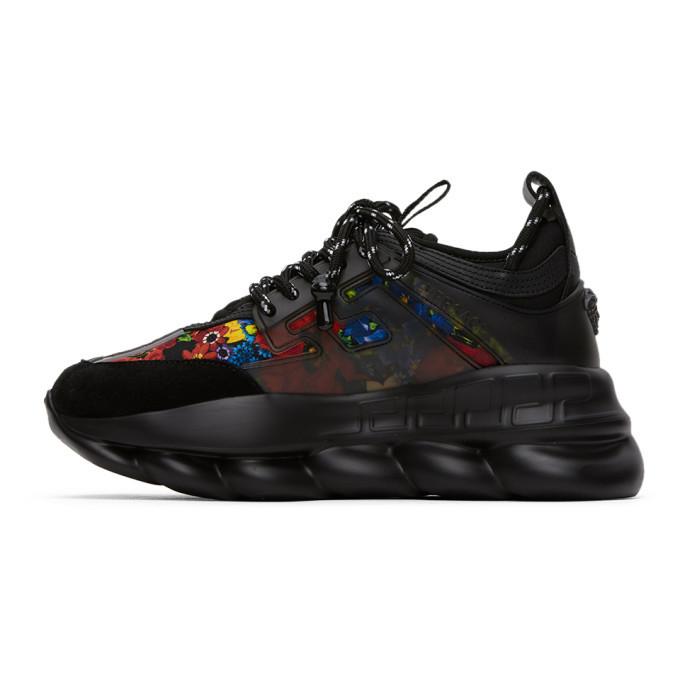 Versace SSENSE Exclusive Black Printed Chain Reaction Sneakers
