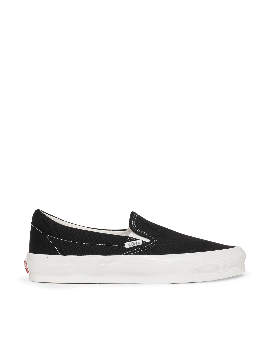 Photo: Vans Classic Slip On Sneakers Black/True White