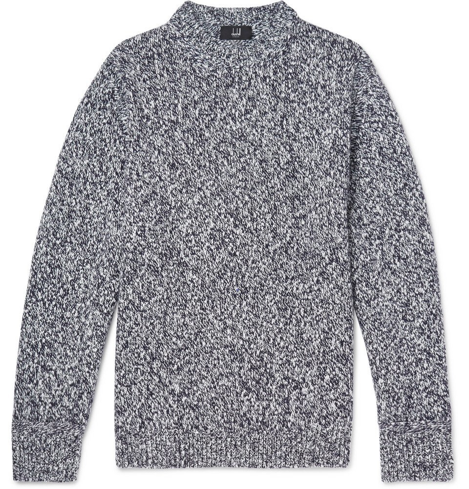 Dunhill - Slub Wool and Cashmere-Blend Sweater - Men - Gray