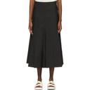 3.1 Phillip Lim Black Pleated A-Line Skirt