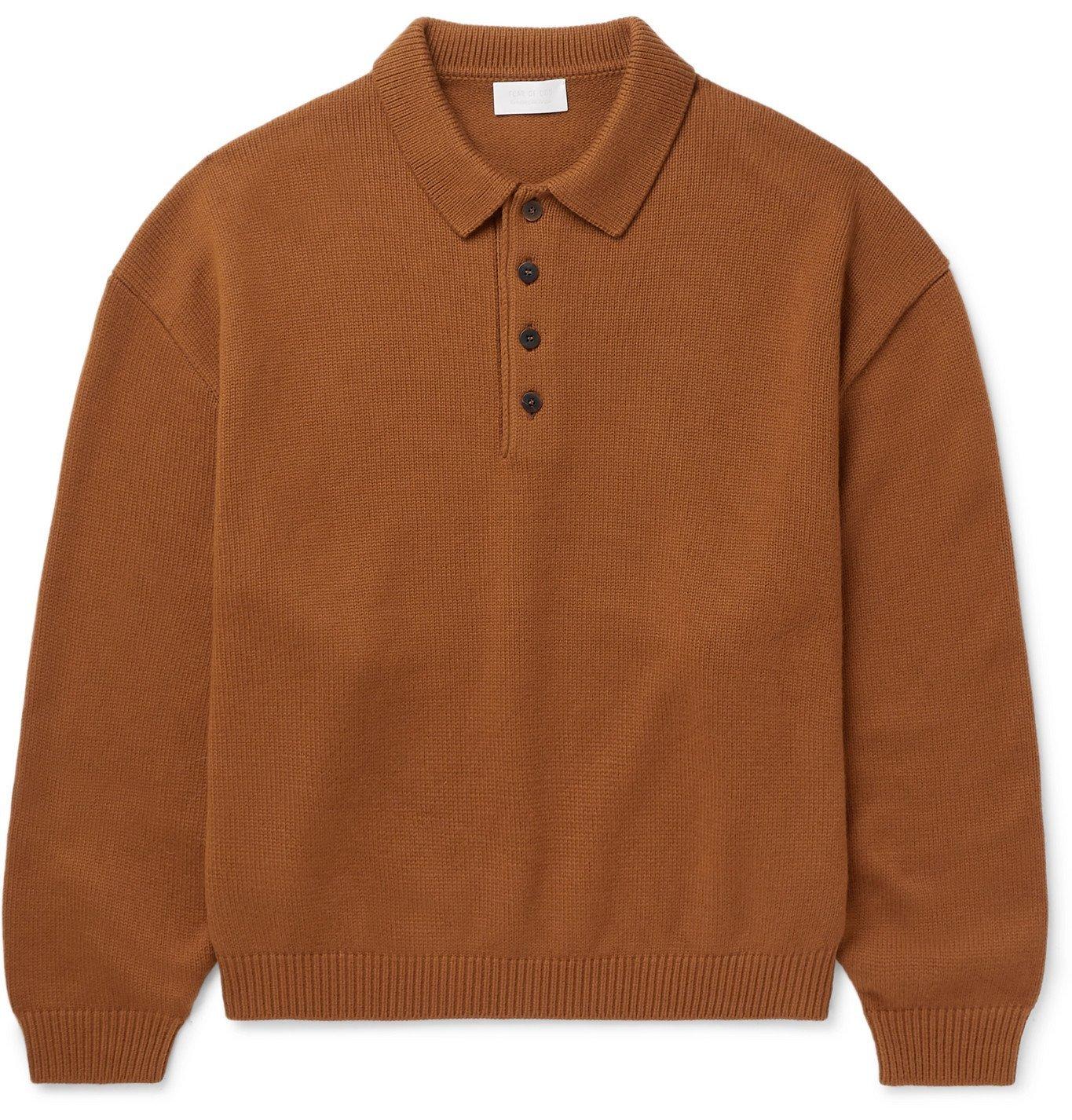 Photo: Fear of God for Ermenegildo Zegna - Wool Polo Shirt - Brown