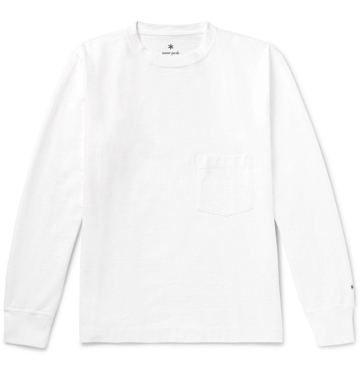 Photo: Snow Peak - Garment-Dyed Cotton-Jersey T-Shirt - White