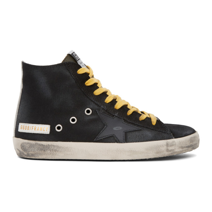 Photo: Golden Goose Black Canvas Francy Sneakers