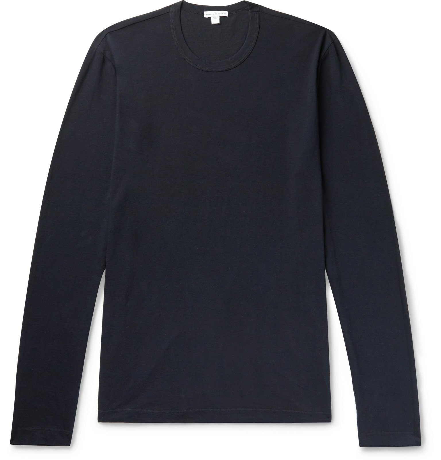 Photo: James Perse - Combed Cotton-Jersey T-Shirt - Blue