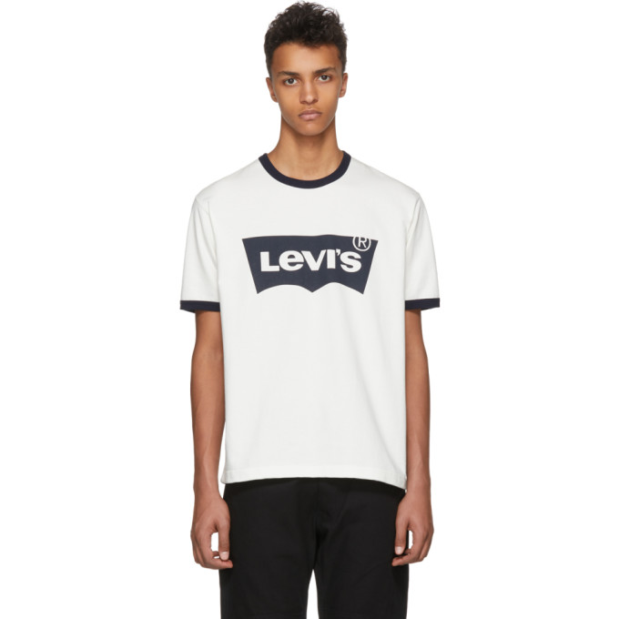 Photo: Junya Watanabe Off-White and Navy Levis Edition Logo T-Shirt