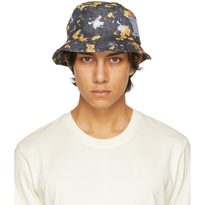 Photo: MCQ Grey and Yellow Ripstop Bucket Hat