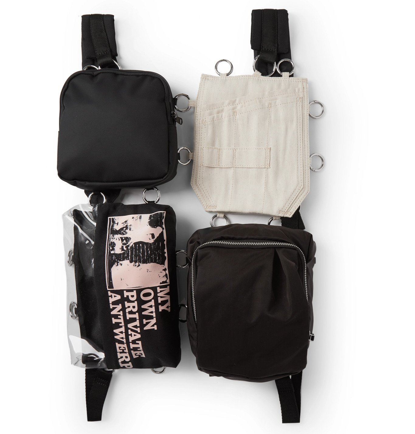 Photo: Raf Simons - Eastpak Printed Canvas, Shell and PVC Belt Bag - Black