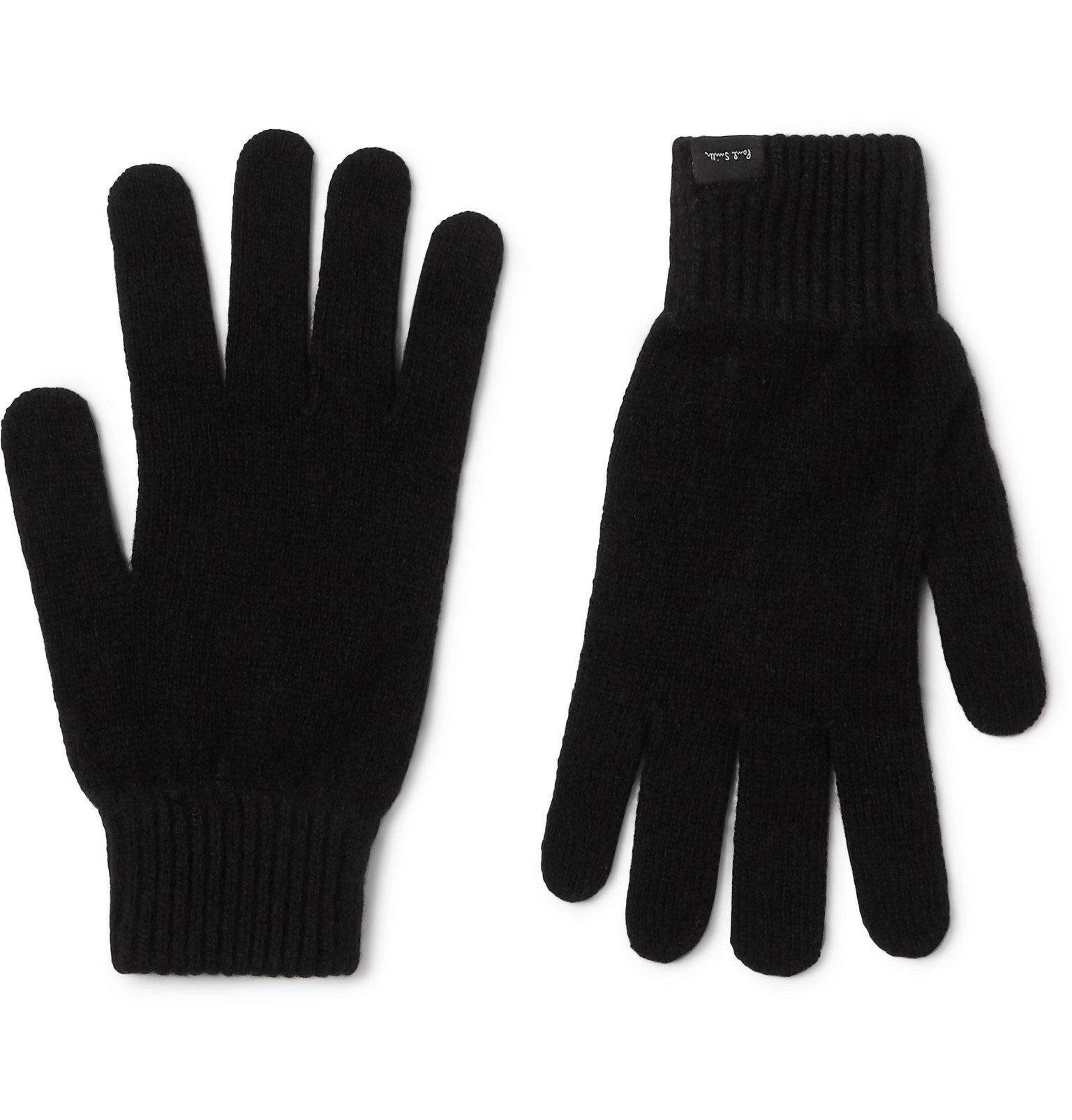 Photo: Paul Smith - Cashmere and Wool-Blend Gloves - Black
