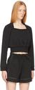 3.1 Phillip Lim Black Square Neck Sweatshirt