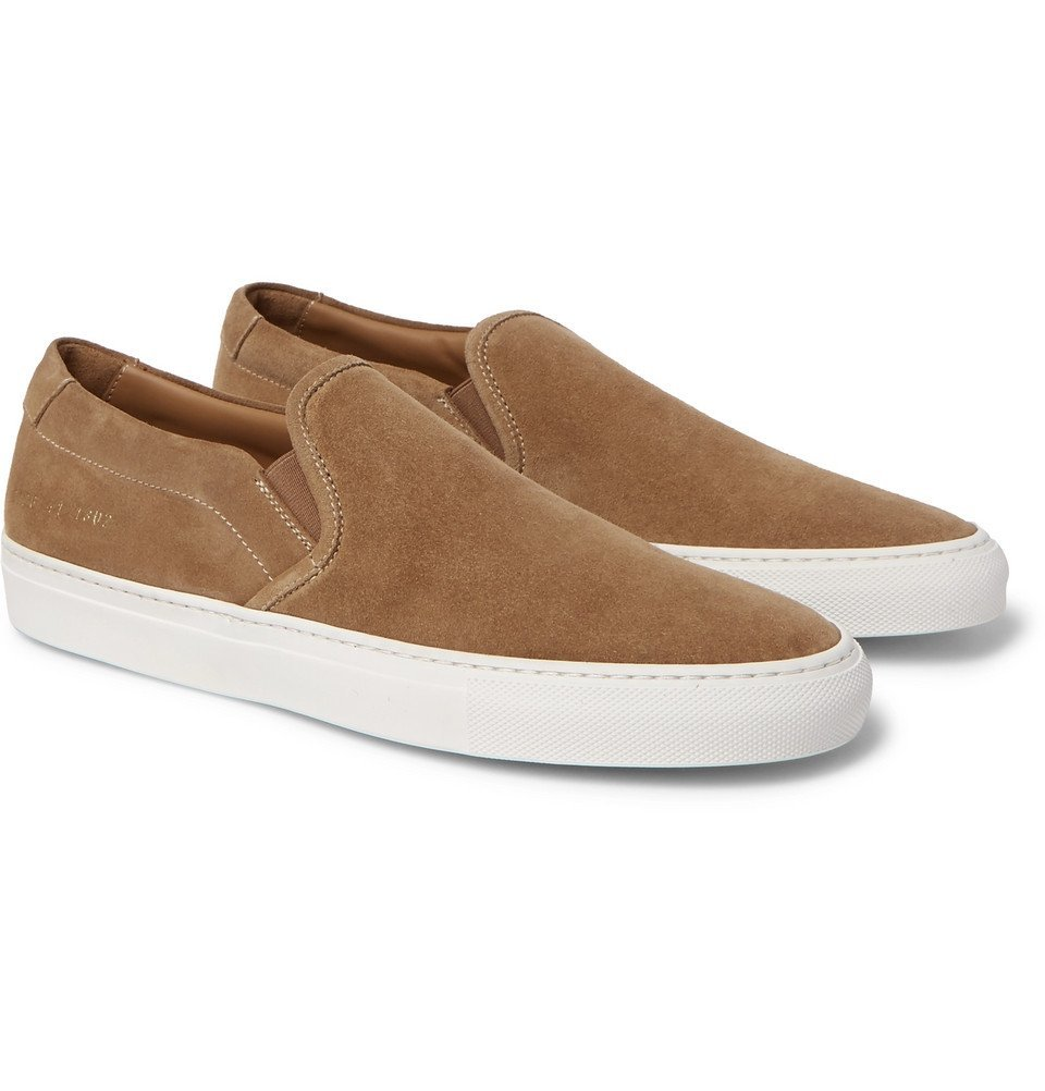 Common Projects - Suede Slip-On Sneakers - Men - Tan