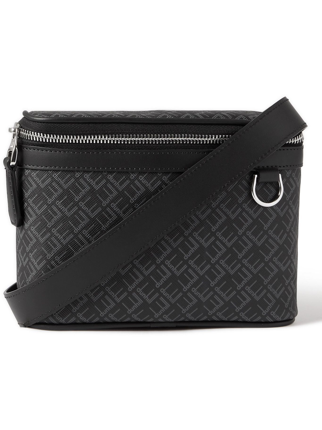 DUNHILL - Small Leather-Trimmed Logo-Print Coated-Canvas Messenger Bag