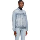 Ksubi Blue Denim Oversized Jacket