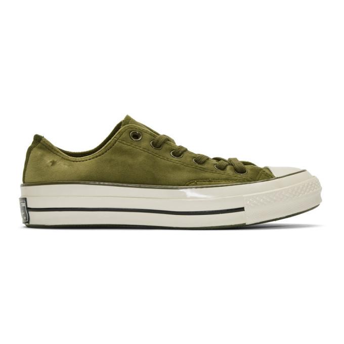 Photo: Converse Green Velvet Chuck 70 OX Sneakers