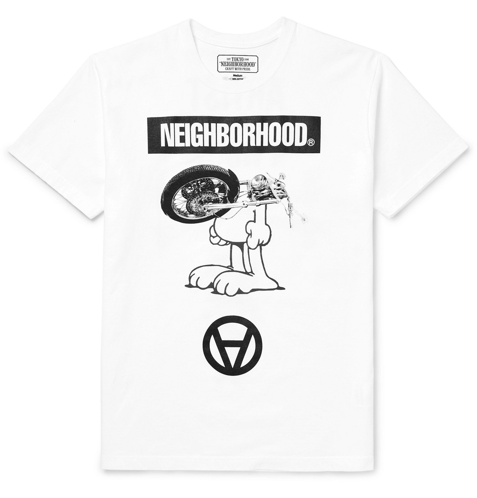 Photo: Neighborhood - Kostas Seremetis Printed Cotton-Jersey T-Shirt - White
