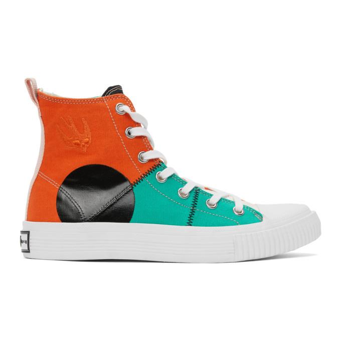 Photo: McQ Alexander McQueen Multicolor Orbyt High Sneakers
