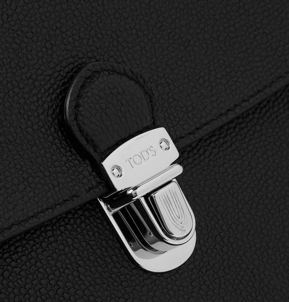 Tod's - Pebble-Grain Leather Briefcase - Men - Black