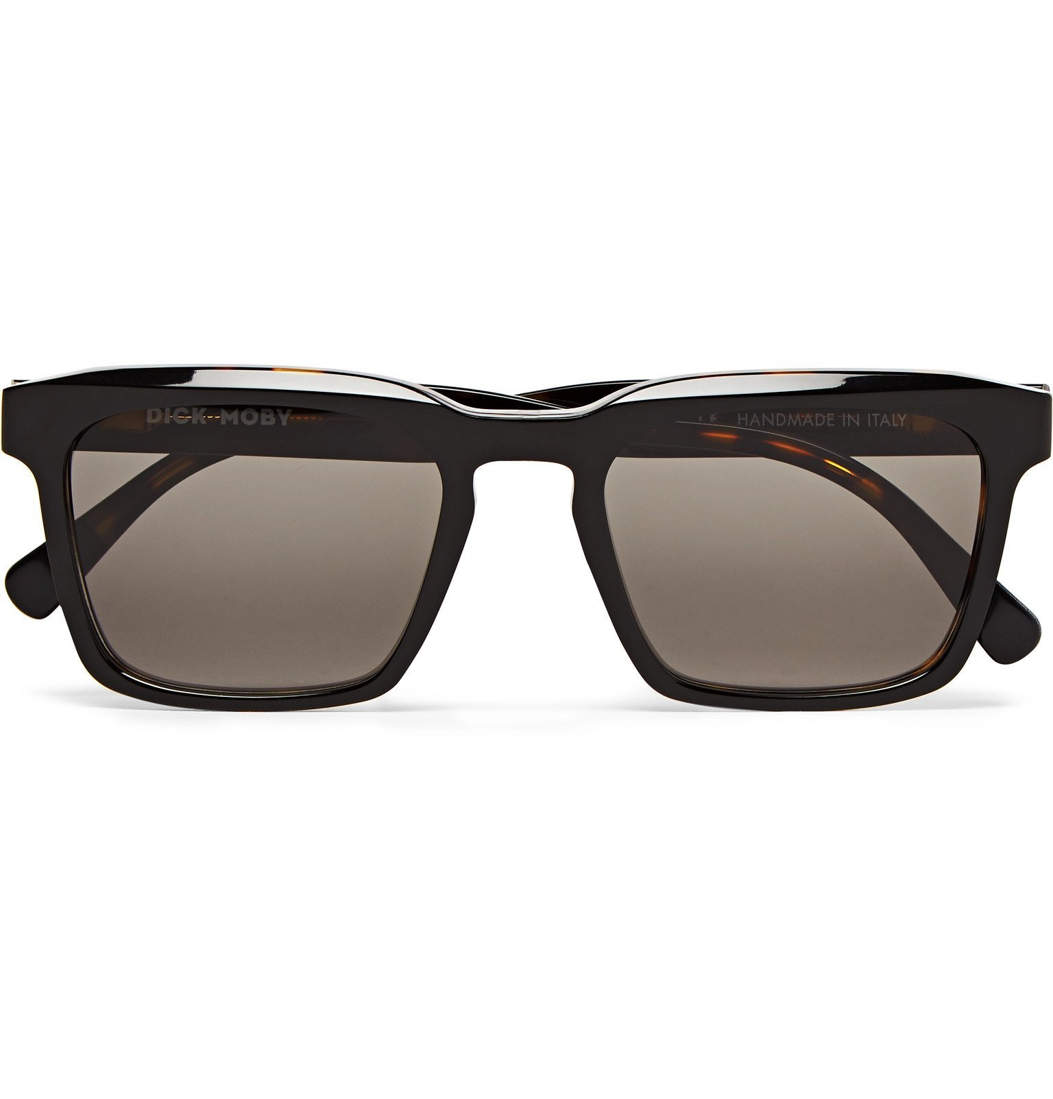 Photo: Dick Moby - Warsaw Square-Frame Tortoiseshell Acetate Sunglasses - Brown