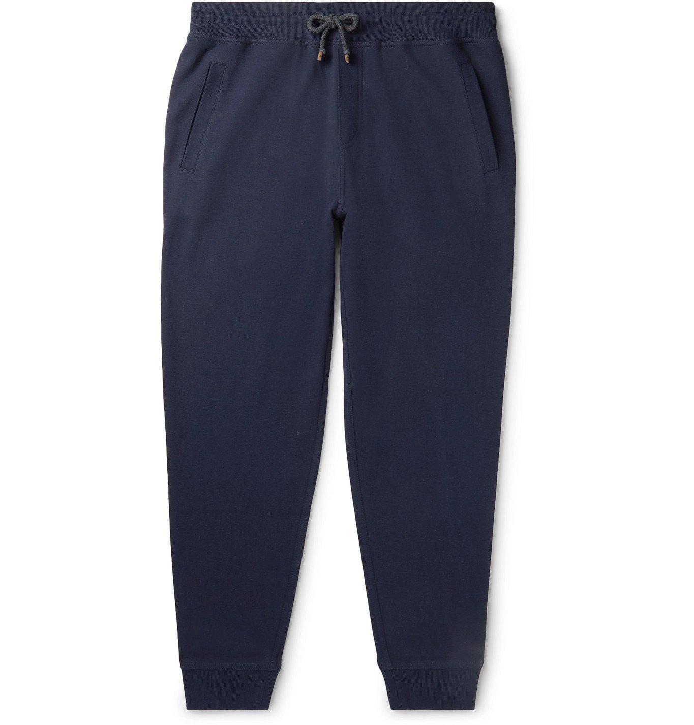 Photo: Brunello Cucinelli - Tapered Mélange Cotton-Blend Jersey Sweatpants - Unknown