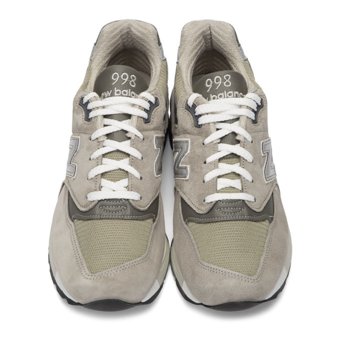 New Balance Grey Made In US M998 Sneakers