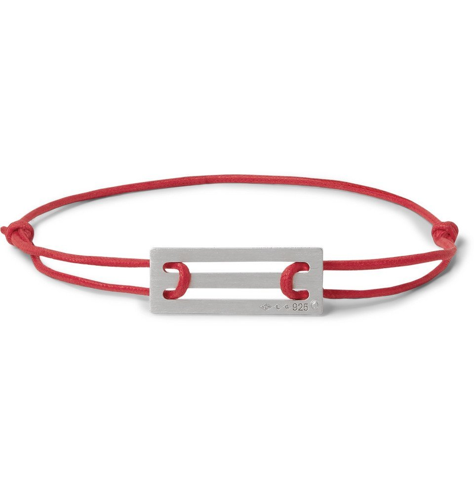 Photo: Le Gramme - 25/10 Cord and Sterling Silver Bracelet - Red