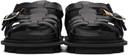 Sacai Black Multi-Belted Sandals