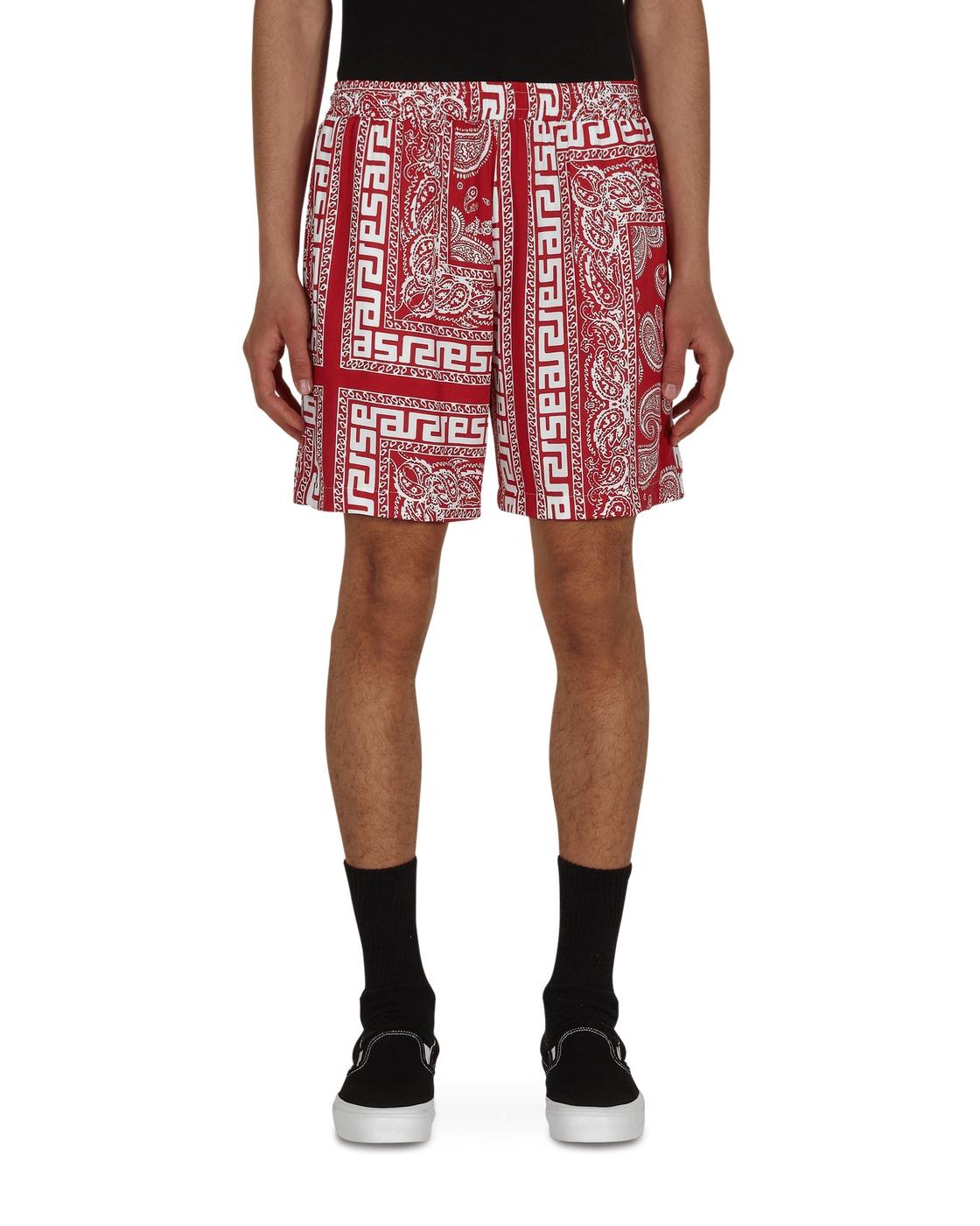 Aries Bandana Print Board Shorts Red