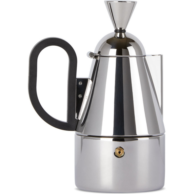 Photo: Tom Dixon Silver Brew Stove Top Coffee Maker, 200 mL