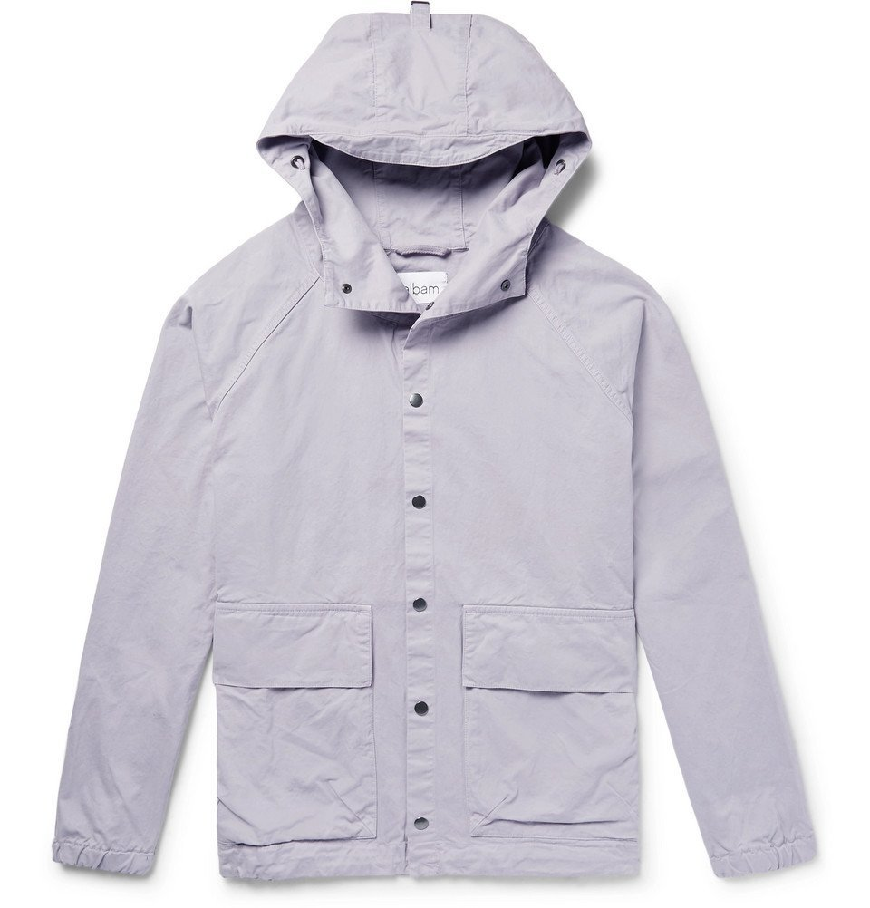 Photo: Albam - Smock Cotton-Twill Hooded Jacket - Men - Lavender
