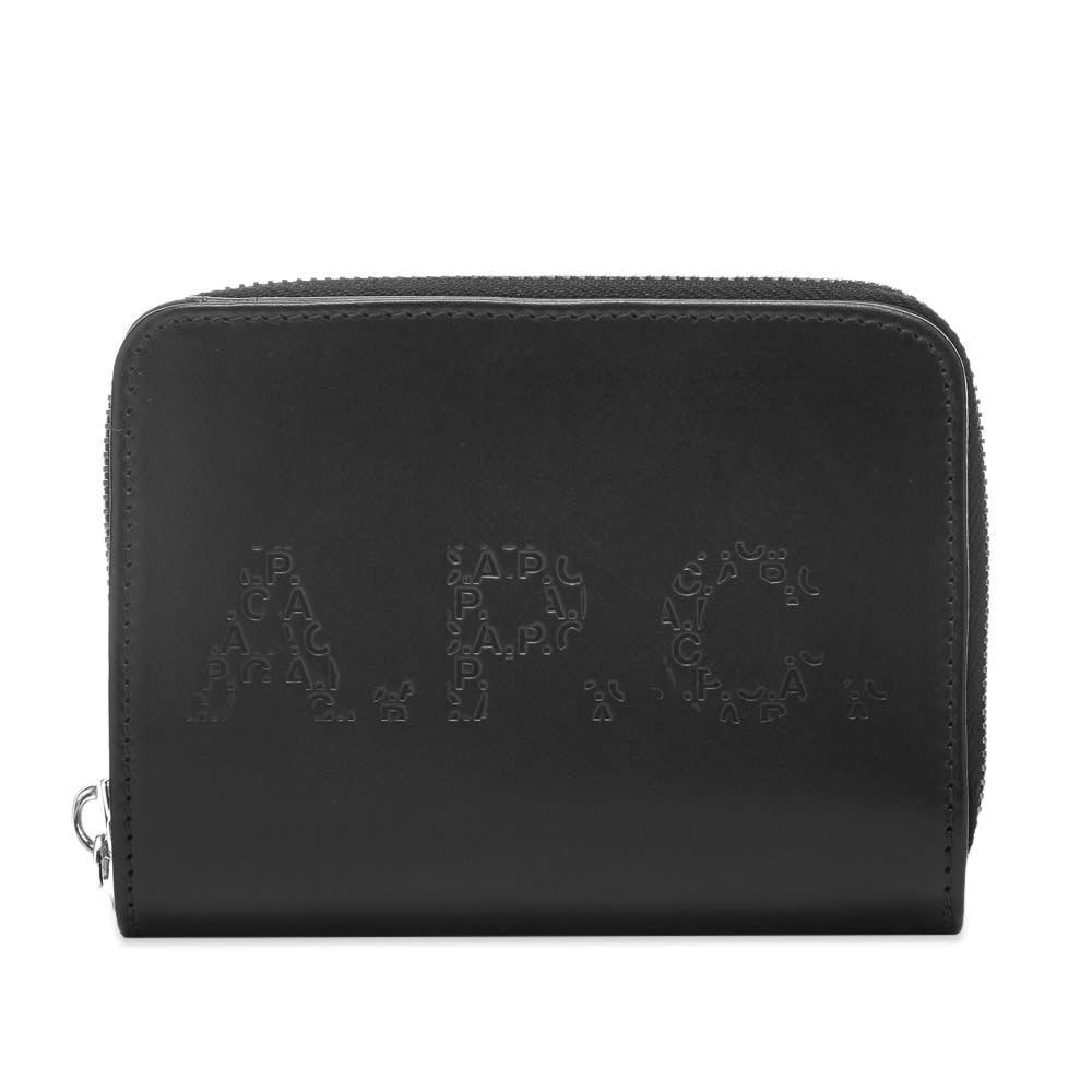 Photo: A.P.C. Emmanuel Embossed Logo Wallet