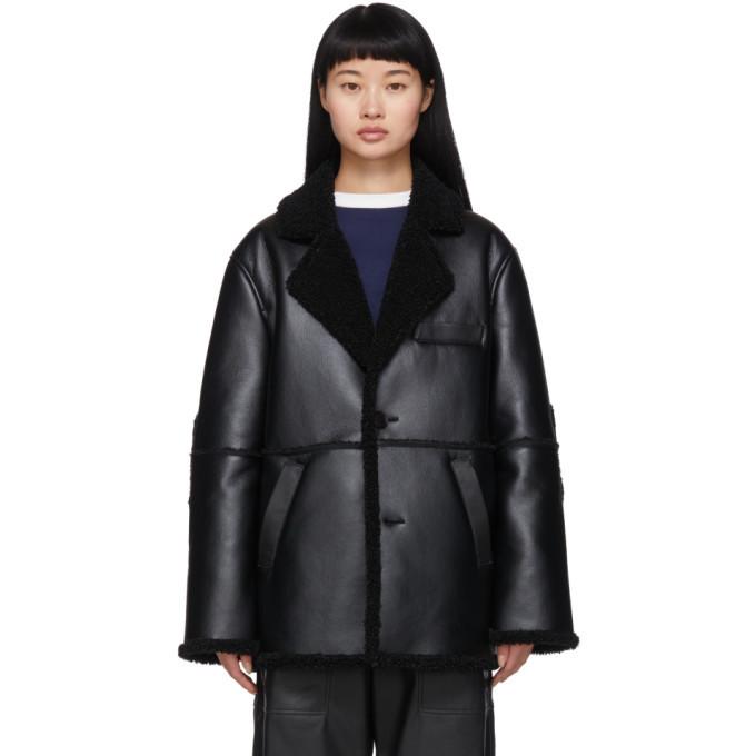 Photo: GR-Uniforma Black Faux-Sheepskin Coat