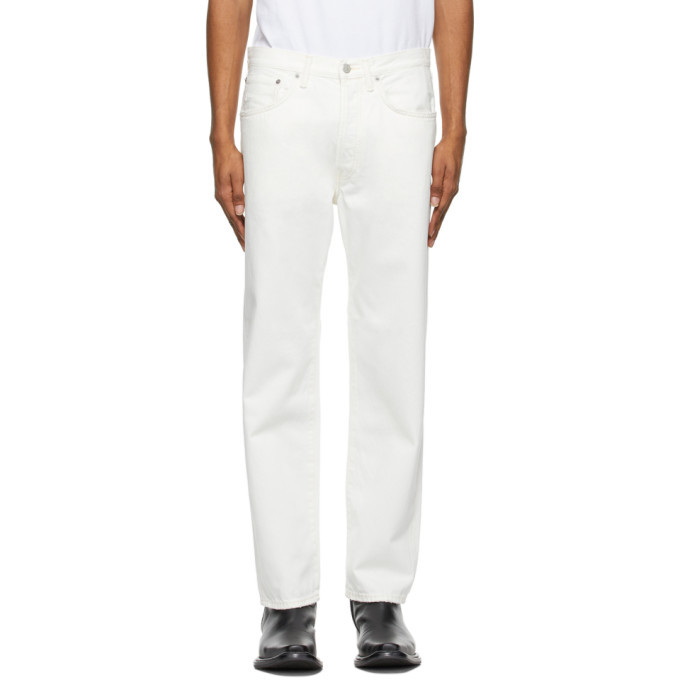 Photo: Acne Studios White Straight Fit Jeans