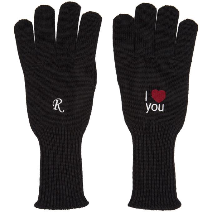 Photo: Raf Simons Black I Love You Gloves