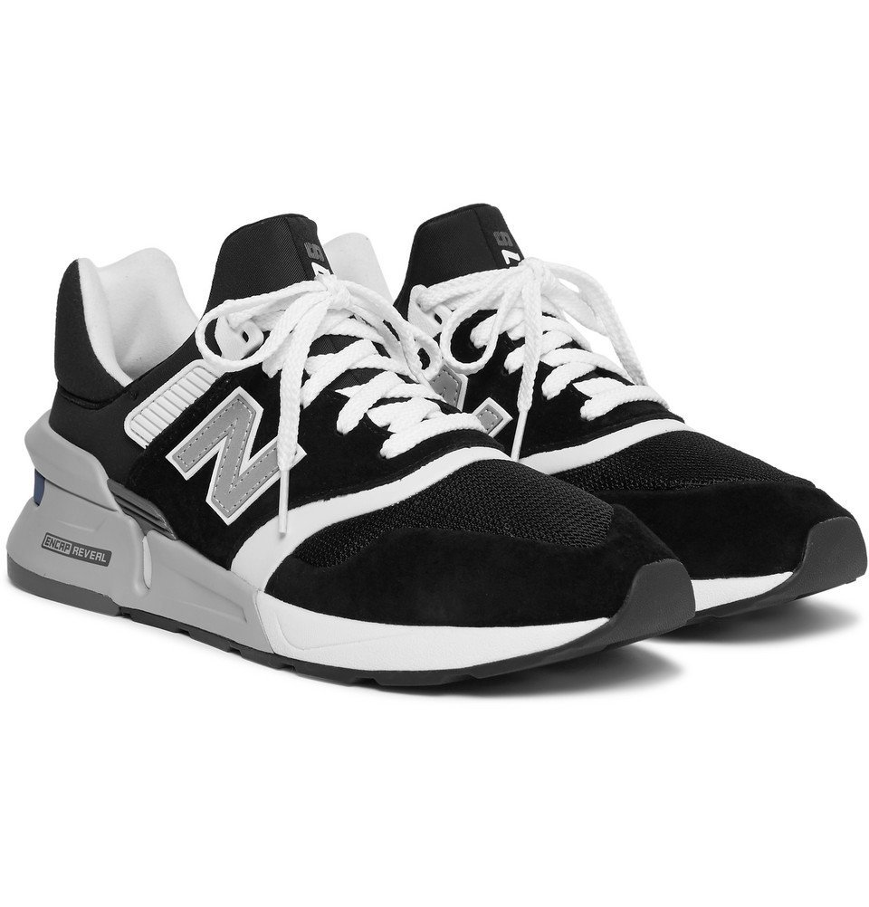 Photo: New Balance - MS997 Suede, Nubuck and Mesh Sneakers - Black