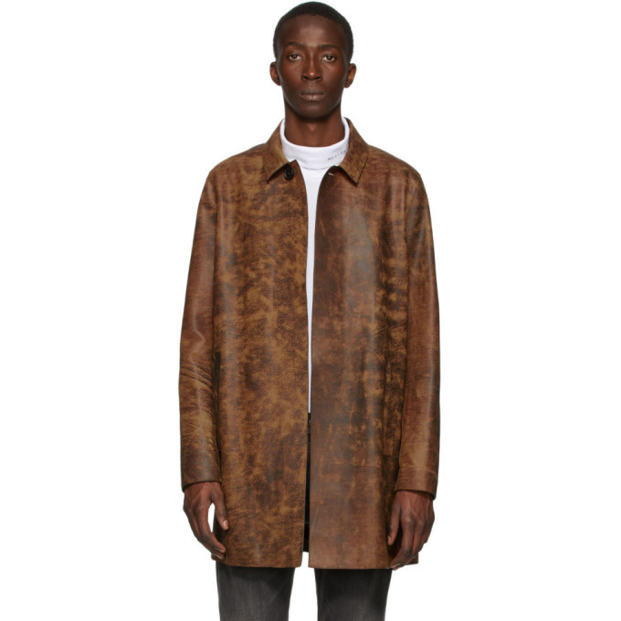 Photo: 1017 ALYX 9SM Brown and Black Leather Coat