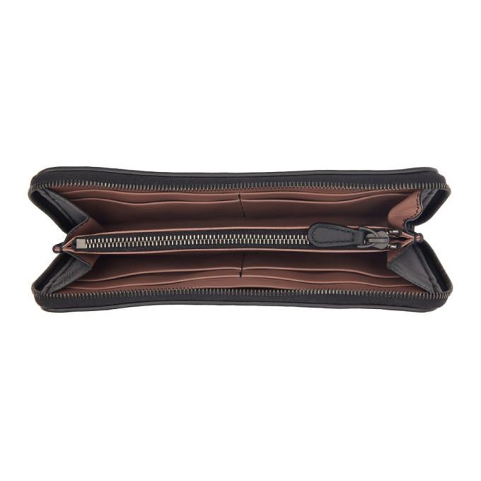Bottega Veneta Black Intrecciato Continental Zip Around Wallet