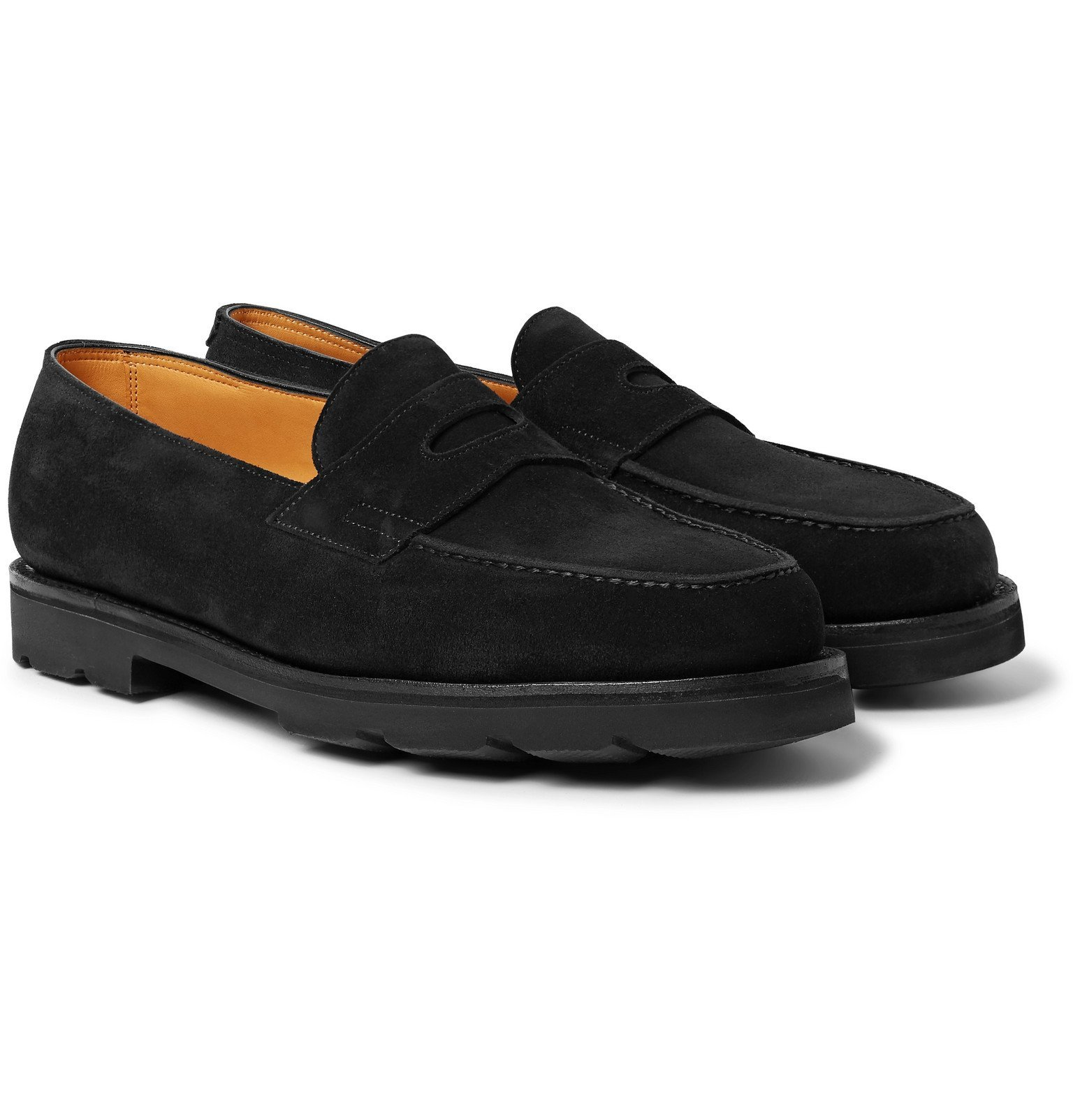 Photo: John Lobb - Lopez Suede Penny Loafers - Black