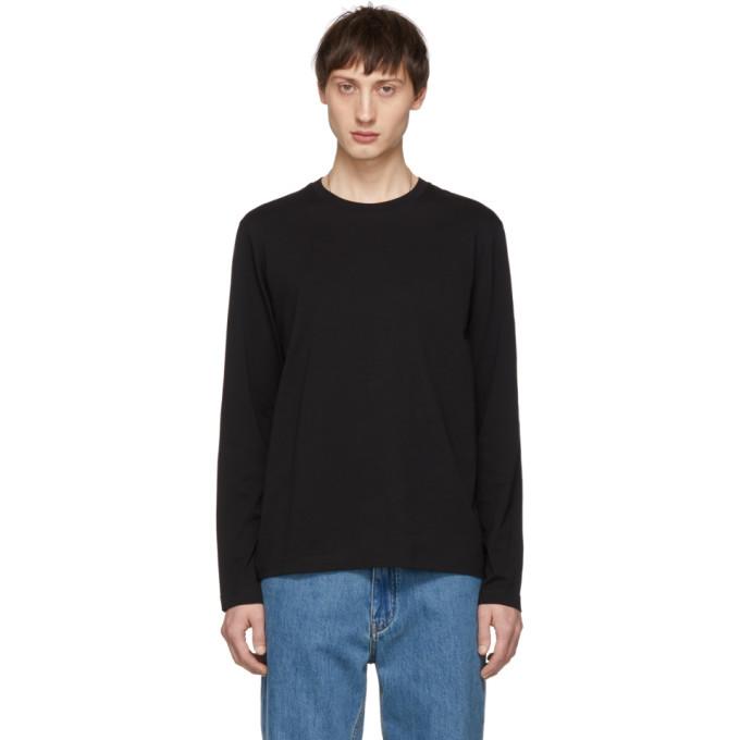 Photo: Helmut Lang Black Overlay Logo Long Sleeve T-Shirt