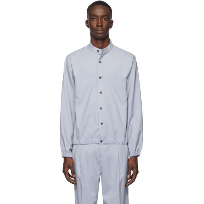 3.1 Phillip Lim Blue Wool Jacket Shirt