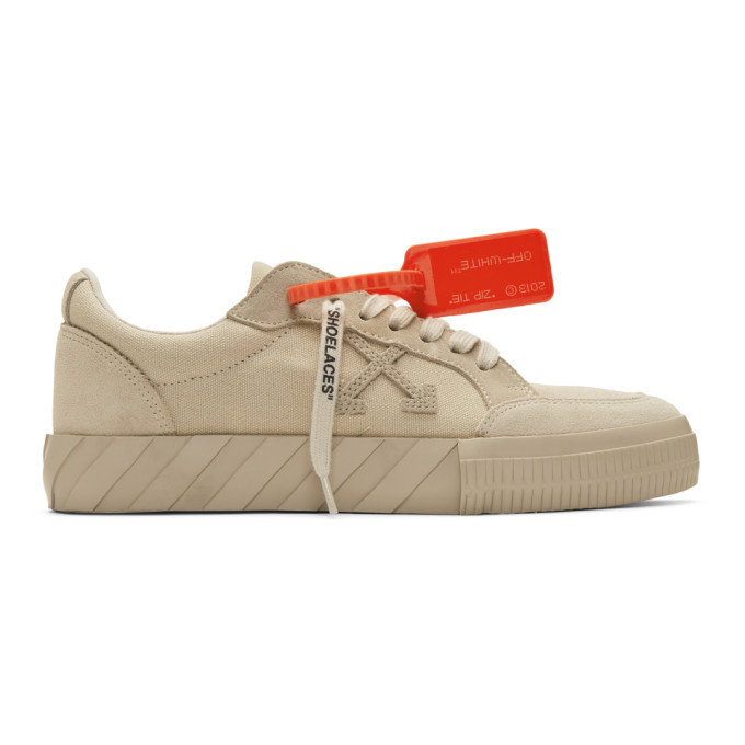 Photo: Off-White Beige Vulcanized Low Sneakers