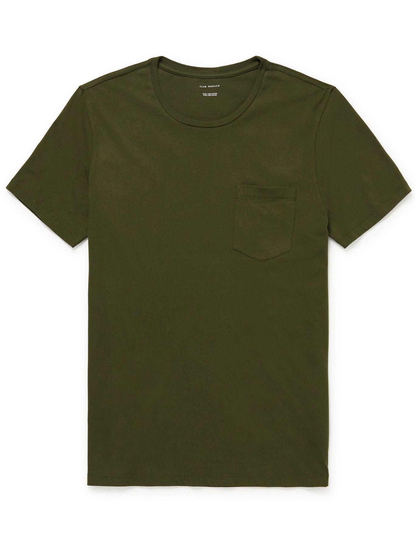 Club Monaco - Williams Cotton-Jersey T-Shirt - Green
