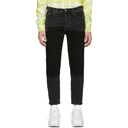 Acne Studios Black Bla Konst River Patch Jeans