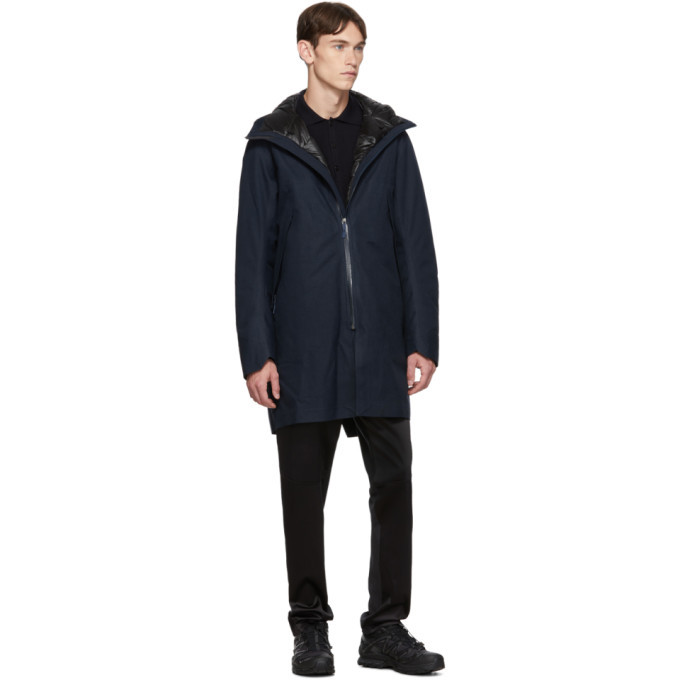 Veilance Navy Down Monitor Coat